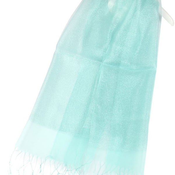 Double Layered Shimmer Silk Pashmina Scarf