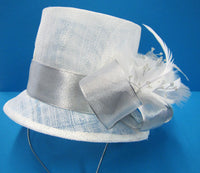 Top hat fascinators with various decorations