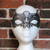 Silver Deer Lace Masquerade Mask