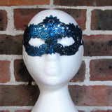 Blue Flower Lace Masquerade Mask