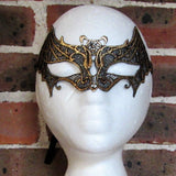Gold Bat Lace Masquerade Mask