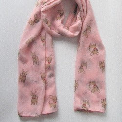 Chihuahua Dog and Bone Print Scarf