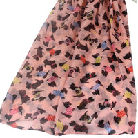 Colourful Coat Scottie Dog Print Scarf