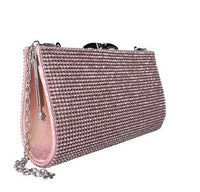 Tiffany Diamante Embellished Clasp Clutch Bag