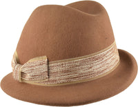 Women's Wool Trilby Cloche Hat