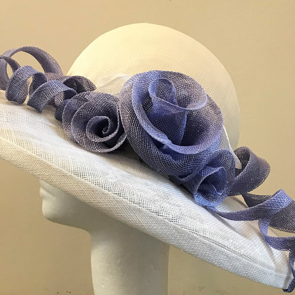 Hat with roses and spirals