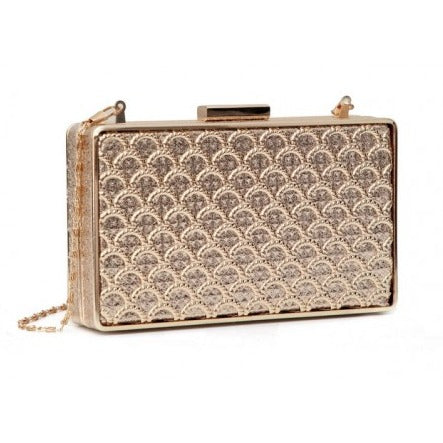 Bessie Evening Party Clutch Gold