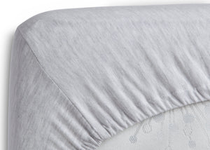 Delta Children Heather Grey (053) Fitted Bassinet Sheet Set – 2 Pack Corner View