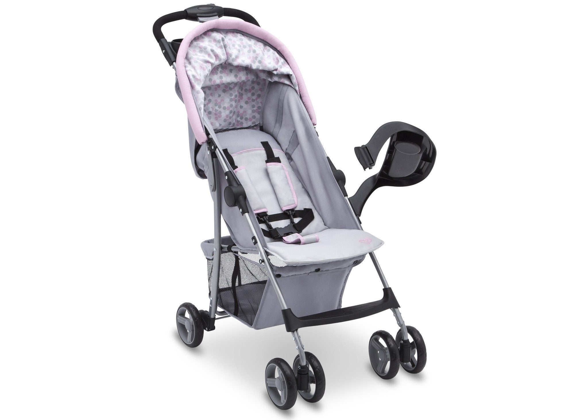 Delta Children Emily (2274) CX Rider Flat-Fold Stroller, Right View Lifted Arm c2c