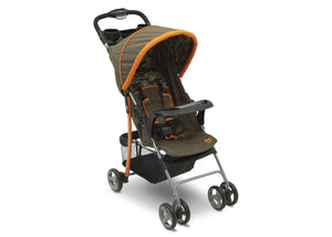 Delta Children Green Camo with Orange Accents (346) CX Rider Flat-Fold Stroller, Right Side View