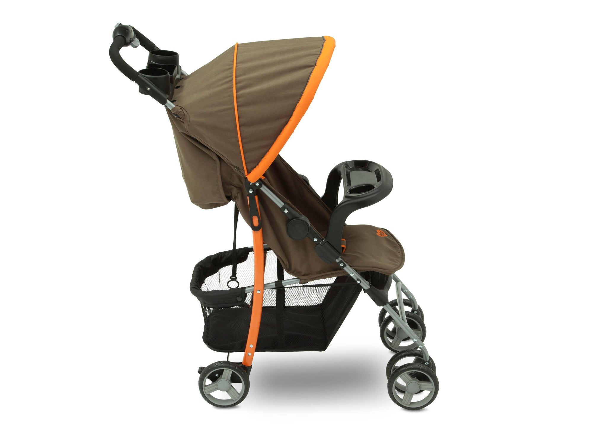 Delta Children Green Camo with Orange Accents (346) Full Right Side View, with Child Tray Tracks