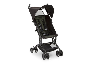 Jeep® Clutch Plus Travel Stroller with Reclining Seat Black with Olive Green (2182), Full View