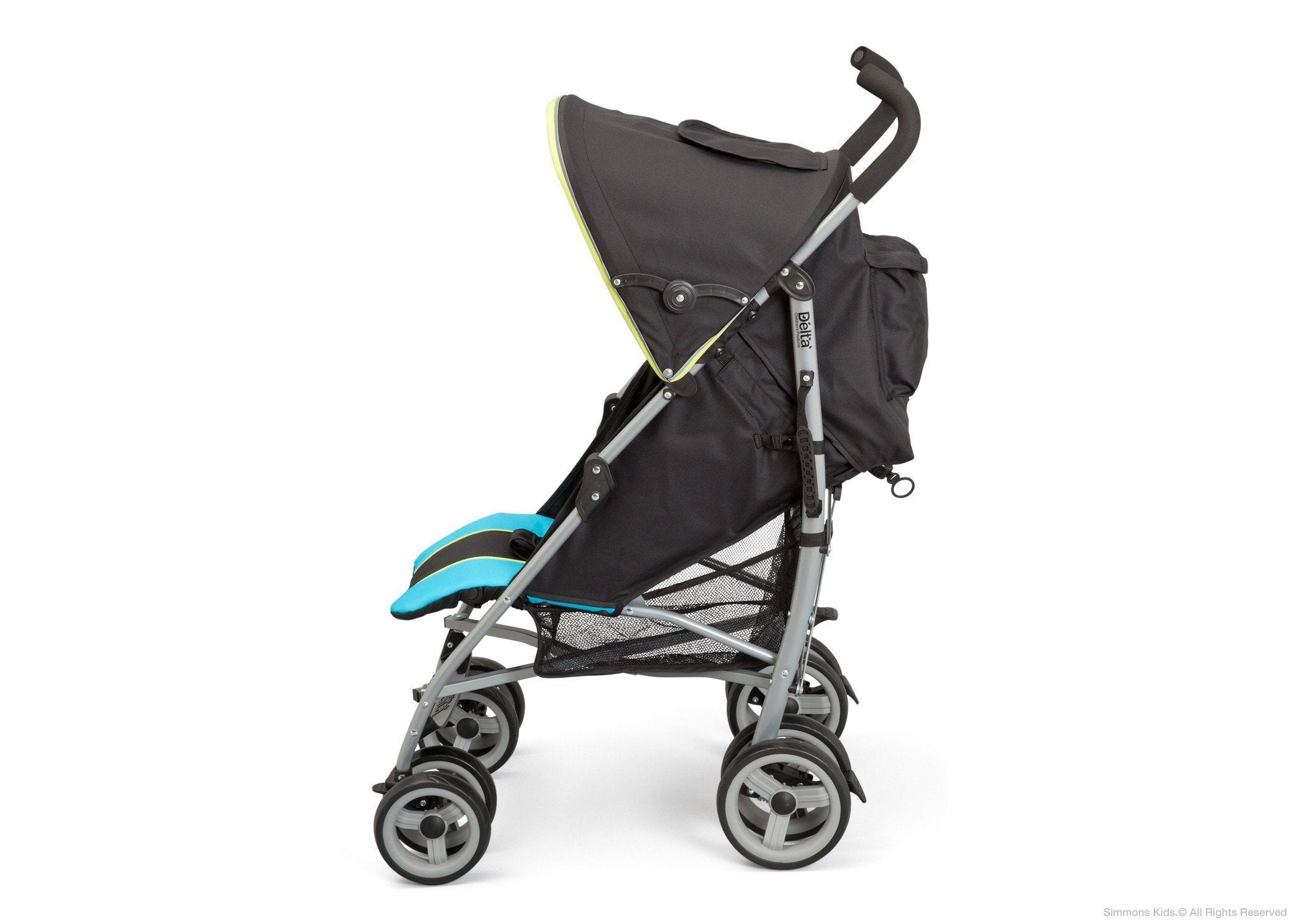 Delta Children Sheriff Black (014) Alpha Elite Stroller Full Left Side View a2a