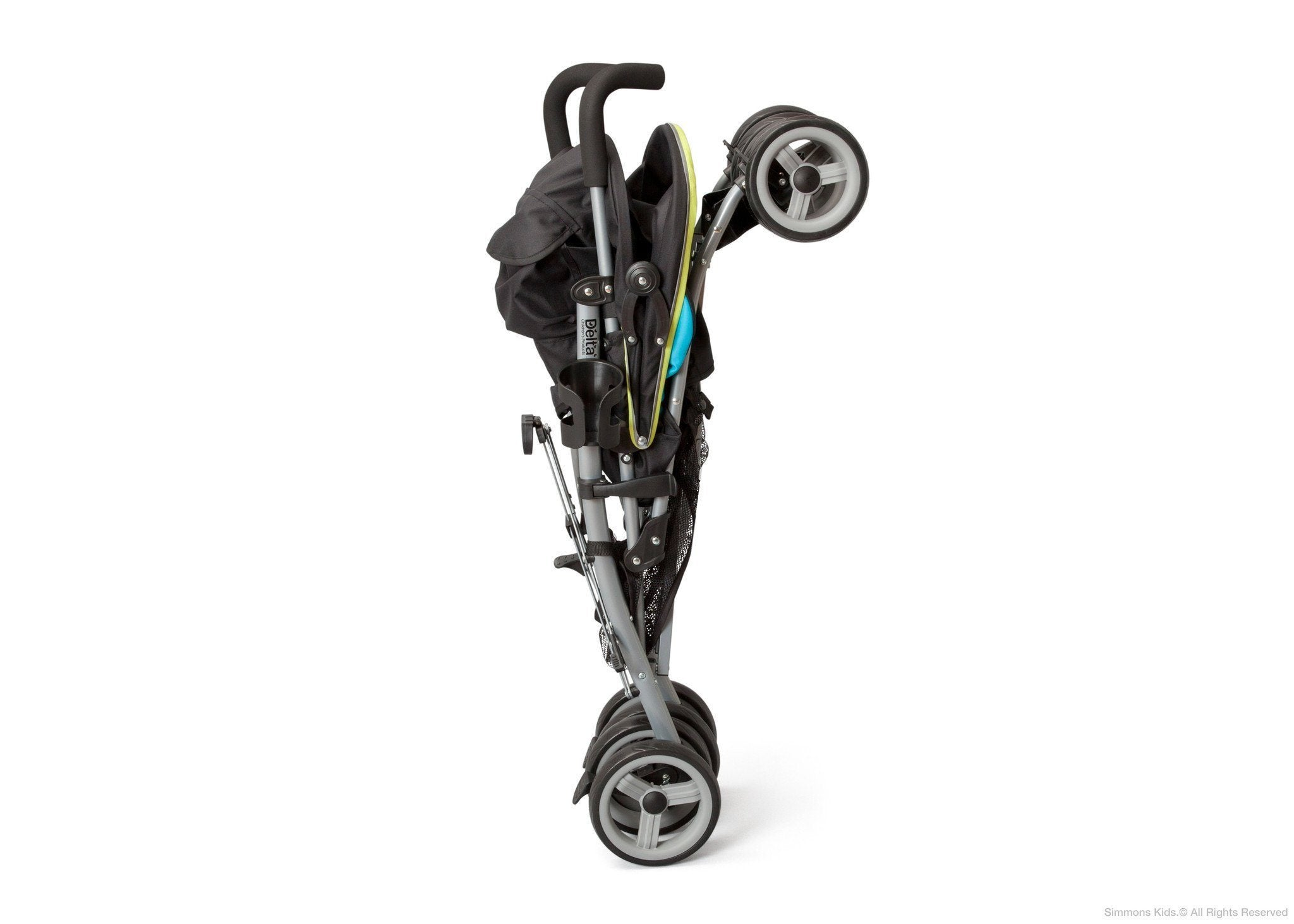 Delta Children Sheriff Black (014) Alpha Elite Stroller, Storage Option a3a