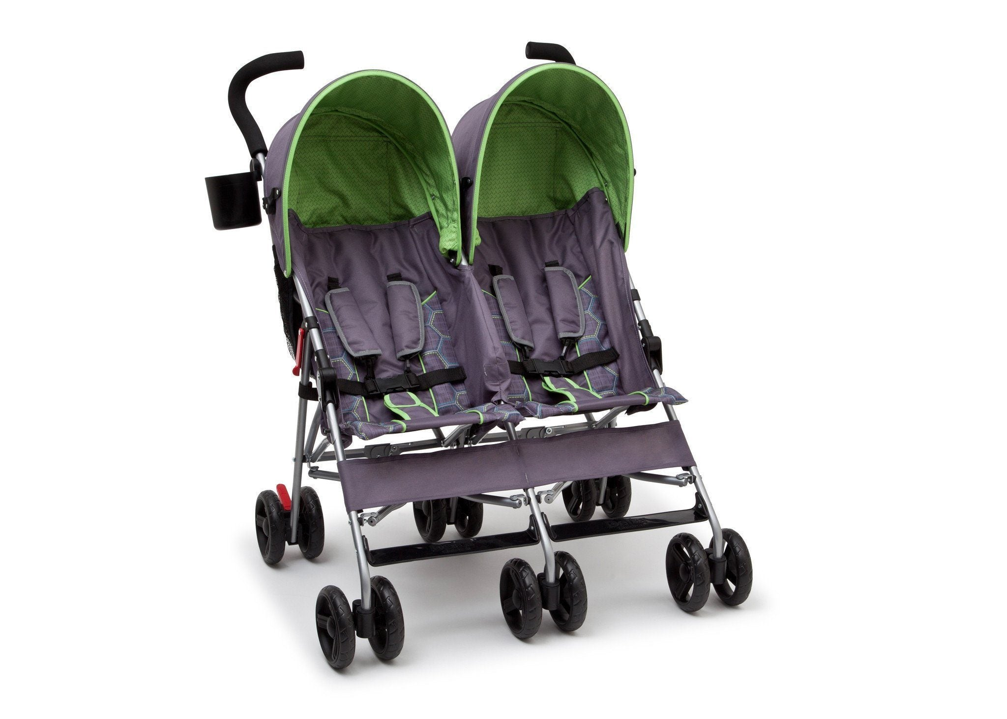 Delta Children Purple & Green (001) LX Side by Side Stroller a1a