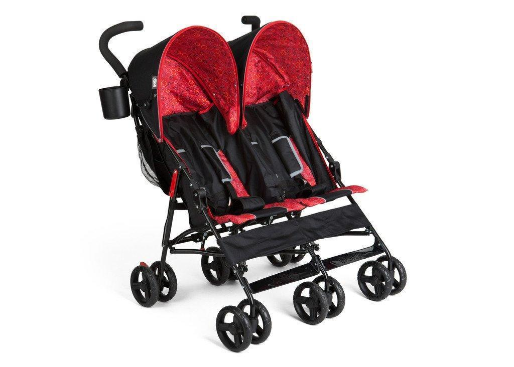 Delta Children Black & Red (983) LX Side by Side Stroller  g1g