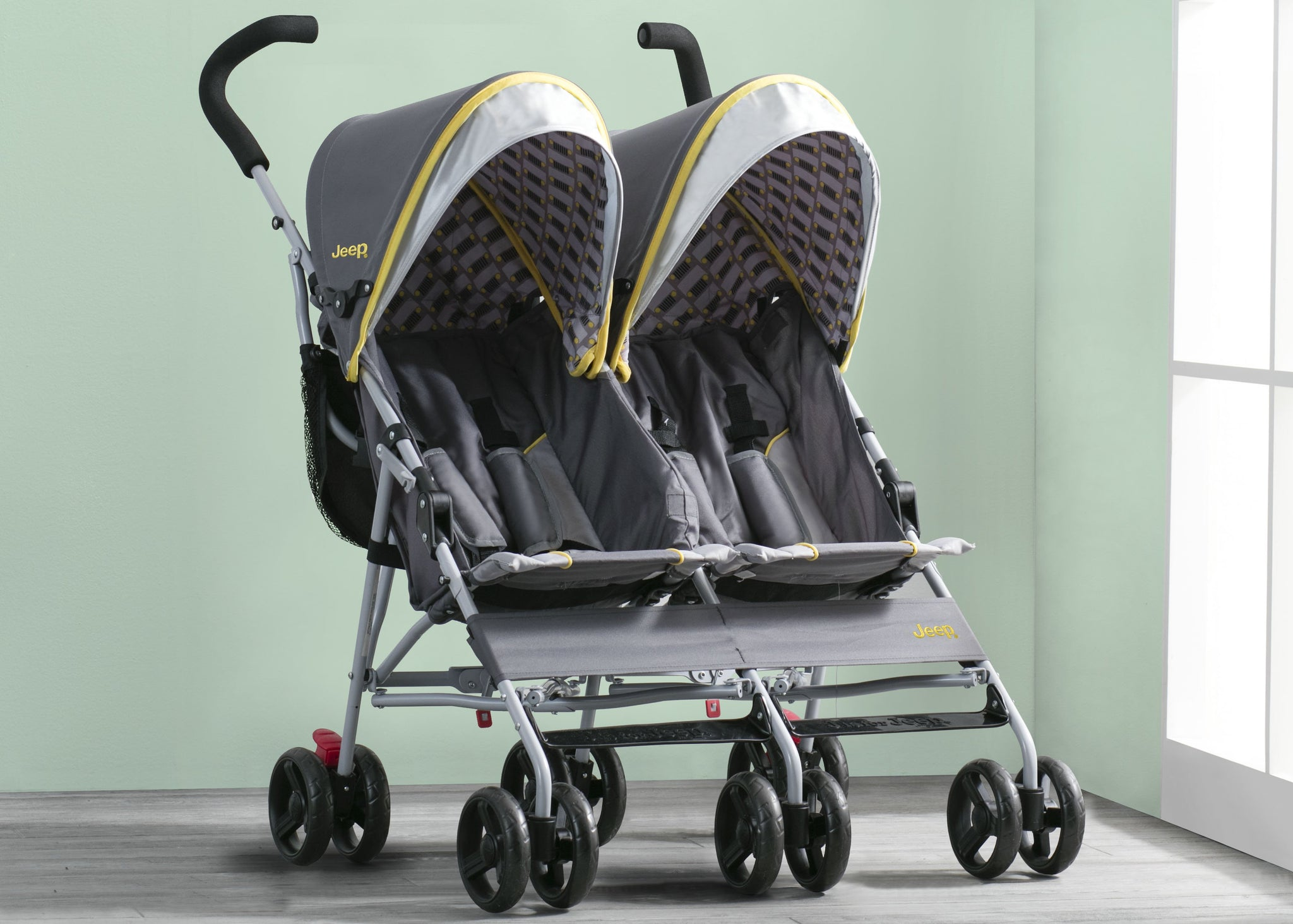 Jeep Brand Scout Double Stroller by Delta Children, Spot On (722)
