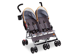 Delta Children Maze (817) LX Plus Side x Side Double Stroller (11709), Angled No Canopy, a3a
