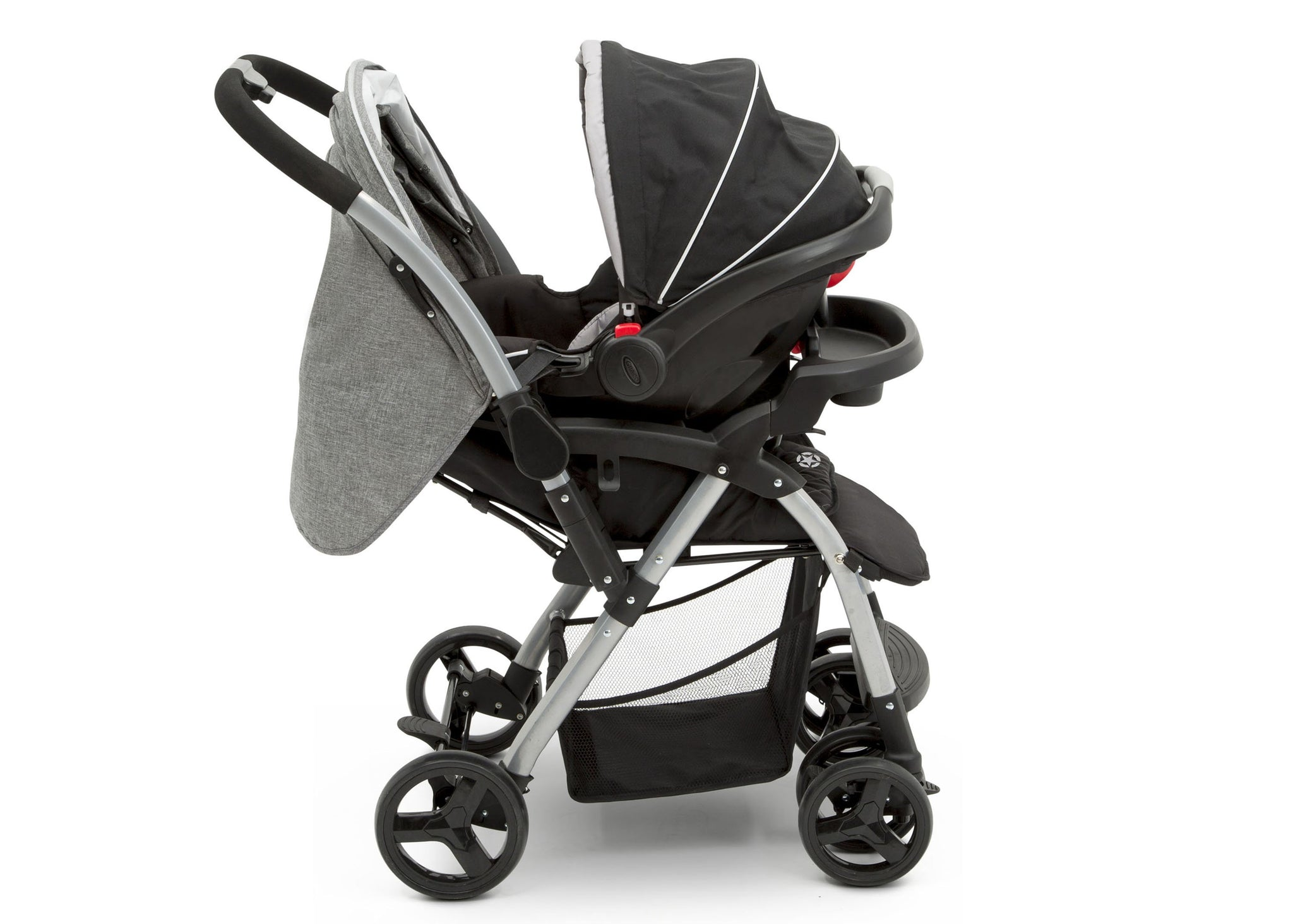 Jeep Unlimited Reversible Handle Stroller by Delta Children, Grey Tweed (2012), Switch from parent-facing to forward-facing