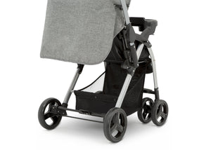 Jeep Unlimited Reversible Handle Stroller by Delta Children, Grey Tweed (2012), generously sized storage basket