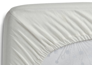 Delta Children Ivory (124) Fitted Bassinet Sheet Set – 2 Pack Corner View