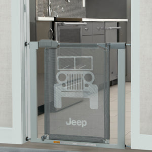Jeep Adjustable Baby Safety Gate - Easy Fit Pressure Mount Design with Walk-Through Door