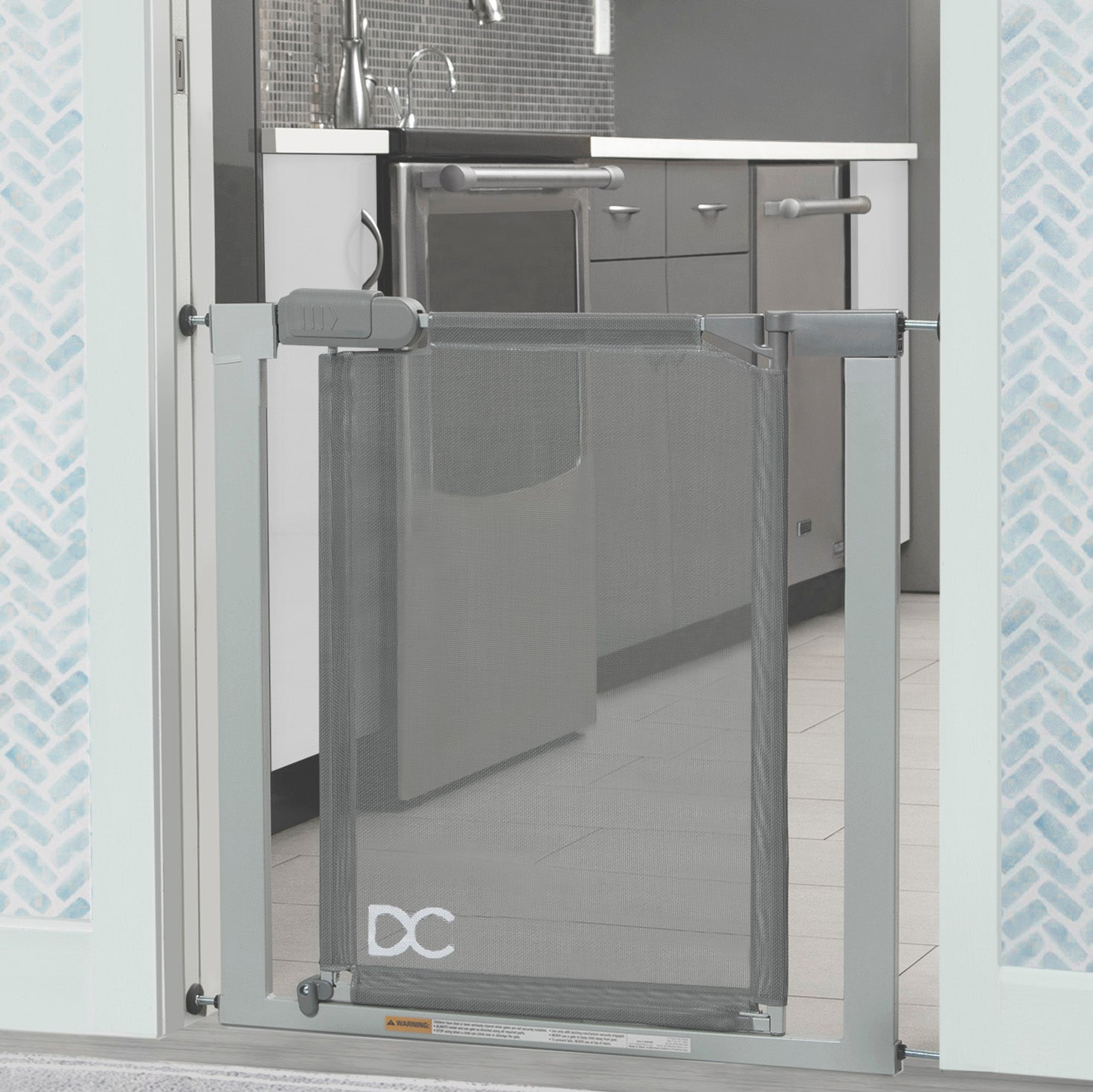 Adjustable Baby Safety Gate - Easy Fit Pressure Mount Design with Walk-Through Door