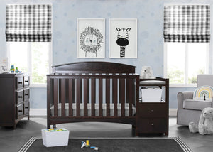 Abby Crib N Changer Dark Chocolate (207)