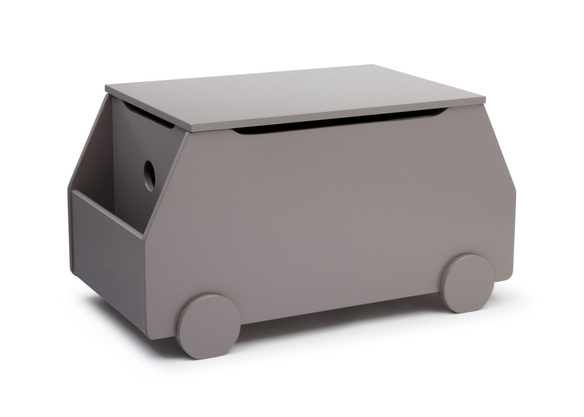 Delta Children Classic Grey (028) Metro Toy Box Right Side View a2a