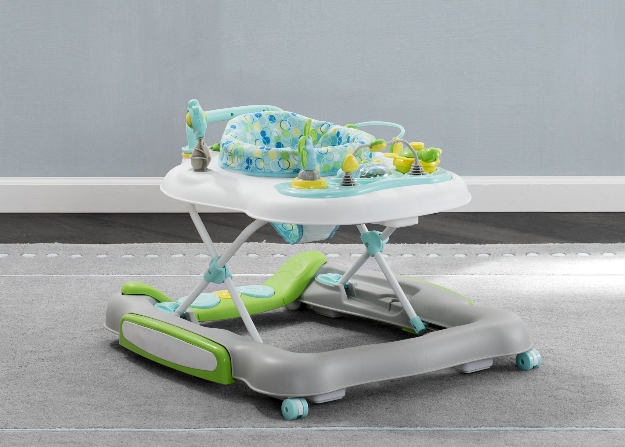 Delta Children Bubbly (2180) 4-in-1 Discover & Play Musical Walker, Hangtag View