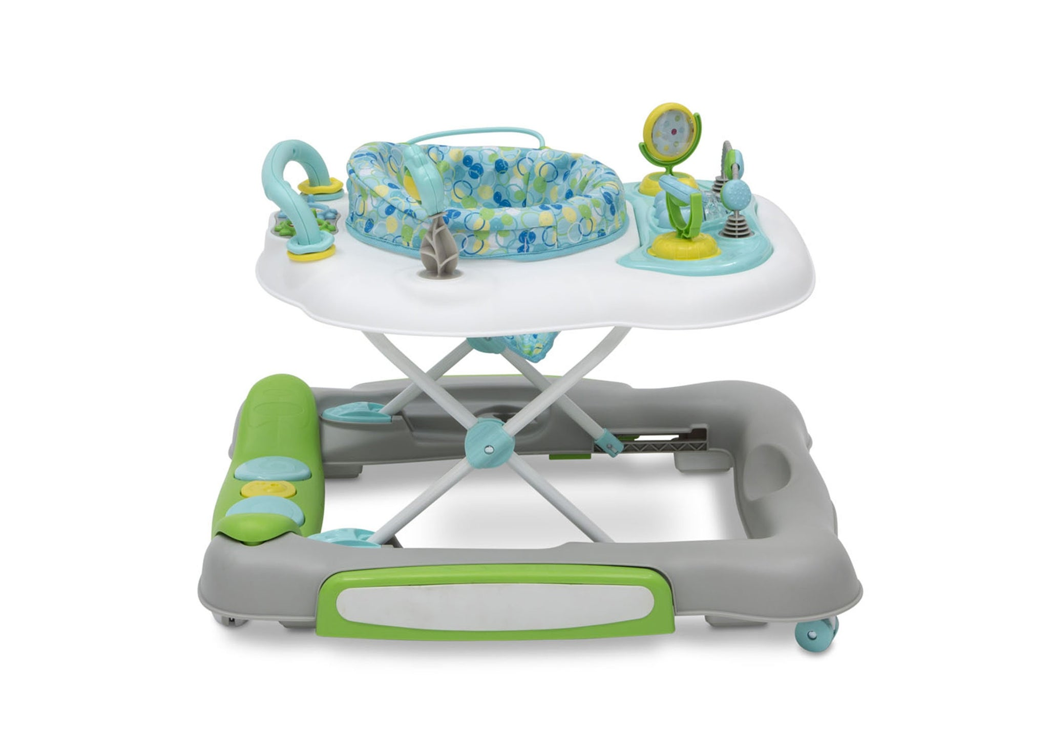 Delta Children Bubbly (2180) 4-in-1 Discover & Play Musical Walker, Side Silo View