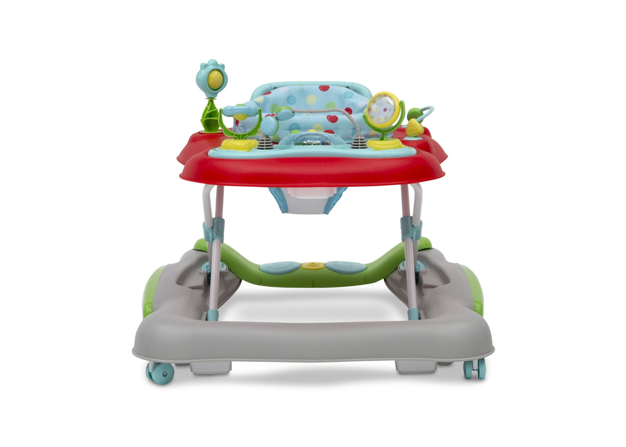 Delta Children Scribble (2181) 4-in-1 Discover & Play Musical Walker, Front Silo View