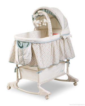 Delta Children Clayton (020) Rocking Bassinet Left Side View Canopy Option 1