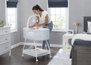 Delta Children Garden Path (2175) Sweet Slumber Bassinet, Room View