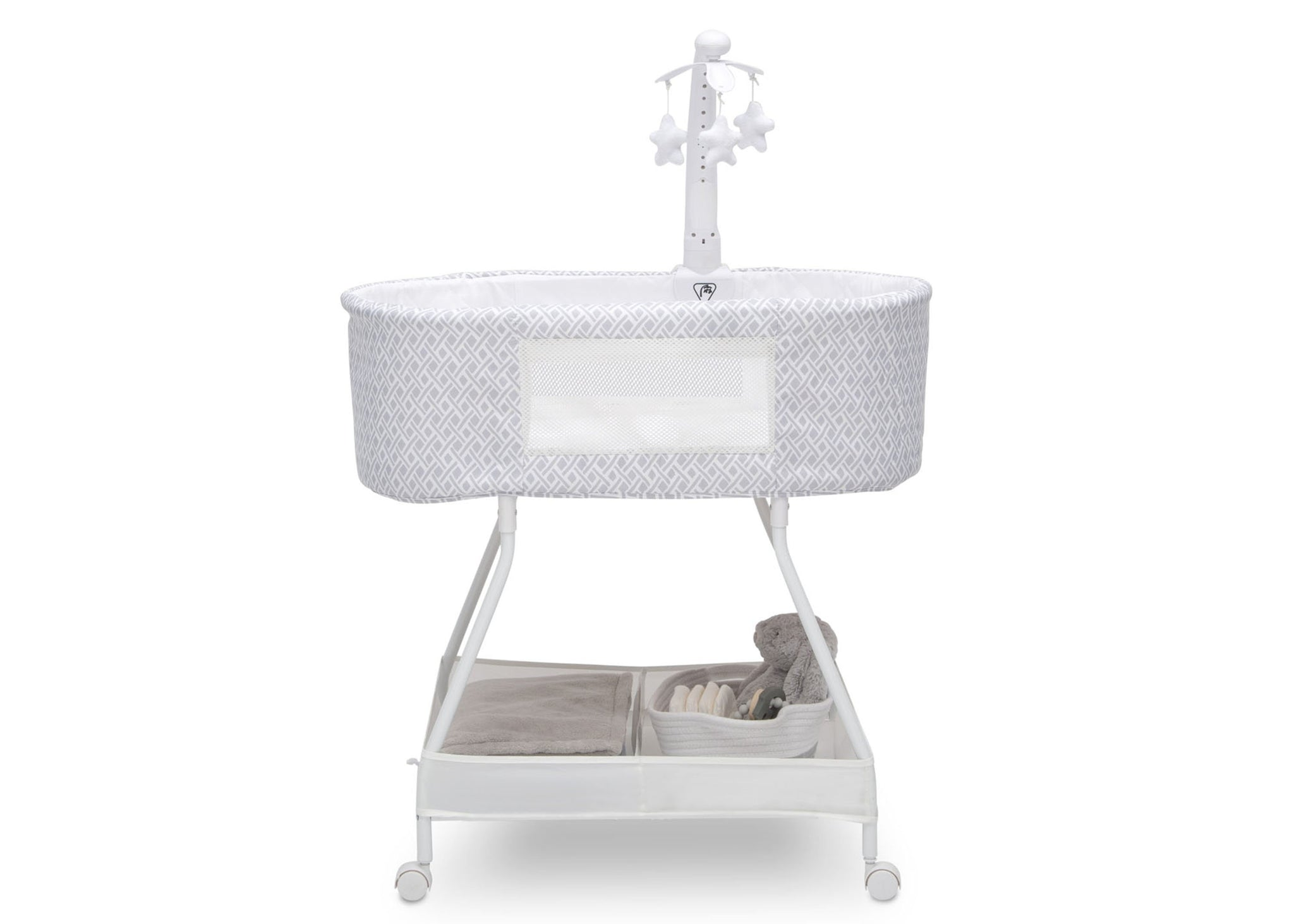 Delta Children Garden Path (2175) Sweet Slumber Bassinet, Side Silo View