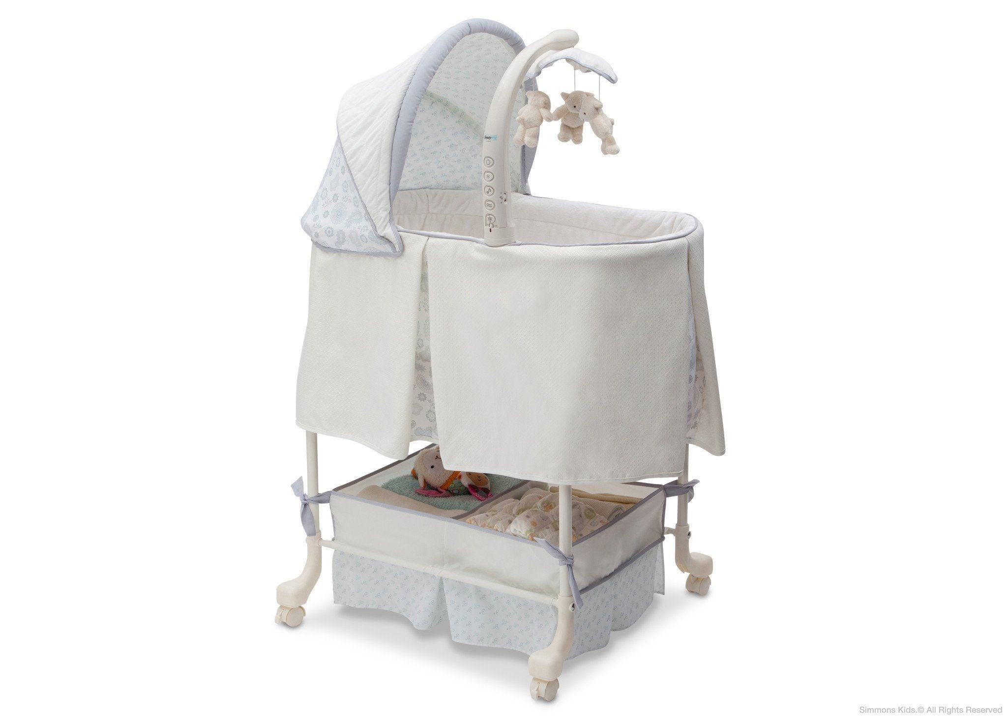 Simmons Kids Paisley (091) Beautyrest Studio Gliding Bassinet (27303) Right Side View a1a