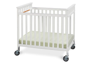 Simmons Kids White (100) Scottsdale Crib, Side View a2a