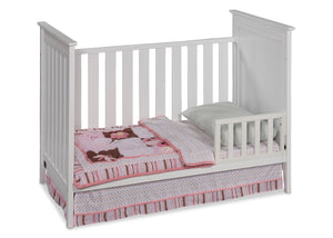 Simmons Kids White (100) Melody 3-in-1 Crib, Toddler Bed Conversion b2b