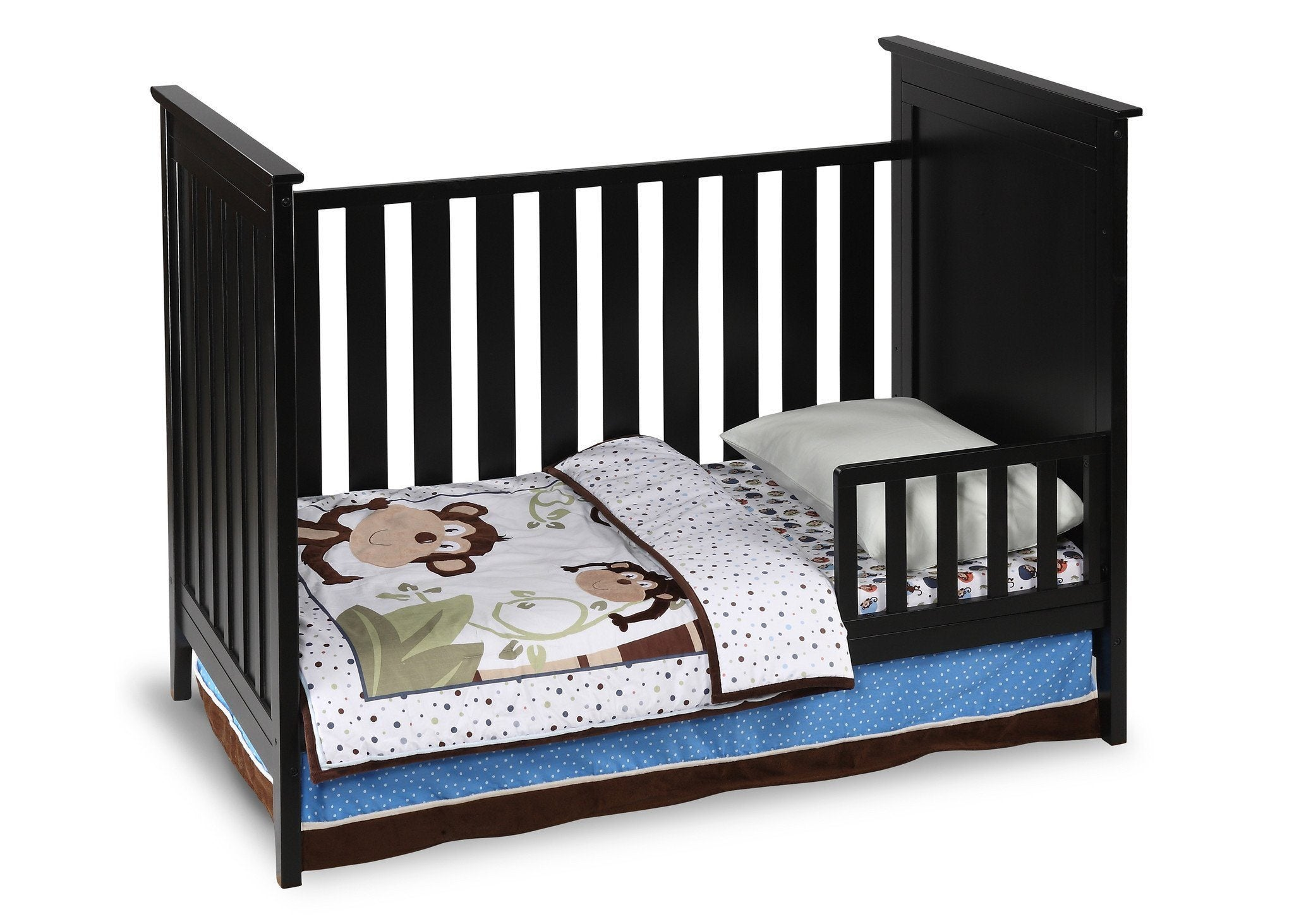 Simmons Kids Black (001) Melody 3-in-1 Crib, Toddler Bed Conversion a2a
