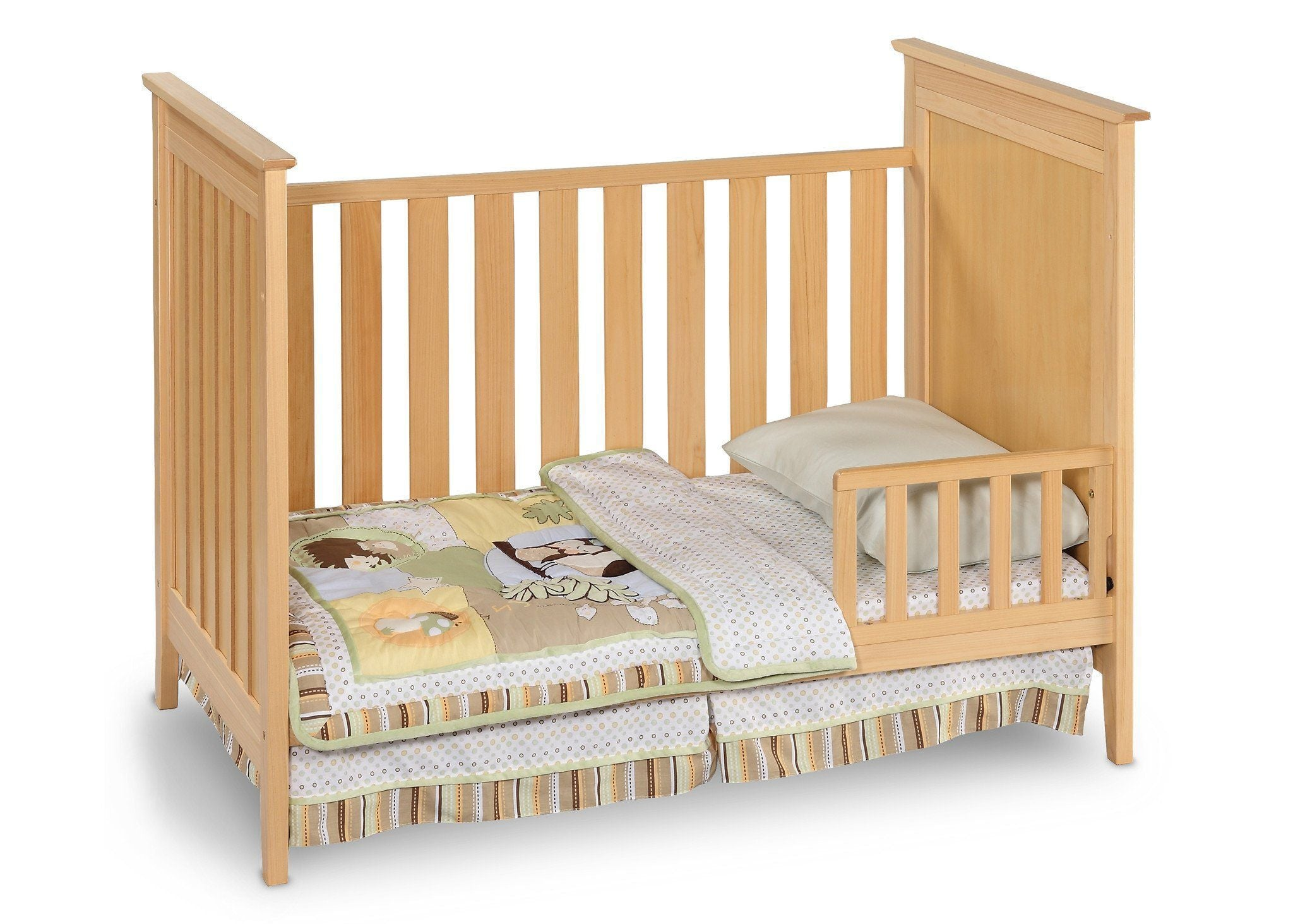 Simmons Kids Natural (260) Melody 3-in-1 Crib, Toddler Bed Conversion c2c