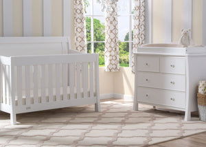Simmons Kids White Ambiance (108) Madisson 4 Drawer Dresser with Changing Top, Room View,