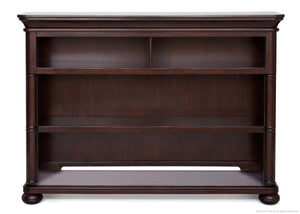 Simmons Kids Molasses (226) Hanover Park Bookcase & Hutch atop Base a3a