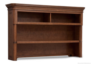 Simmons Kids Chestnut (227) Hanover Park Bookcase & Hutch, Side View b2b