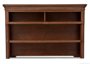 Simmons Kids Chestnut (227) Hanover Park Bookcase & Hutch, Front View b1b