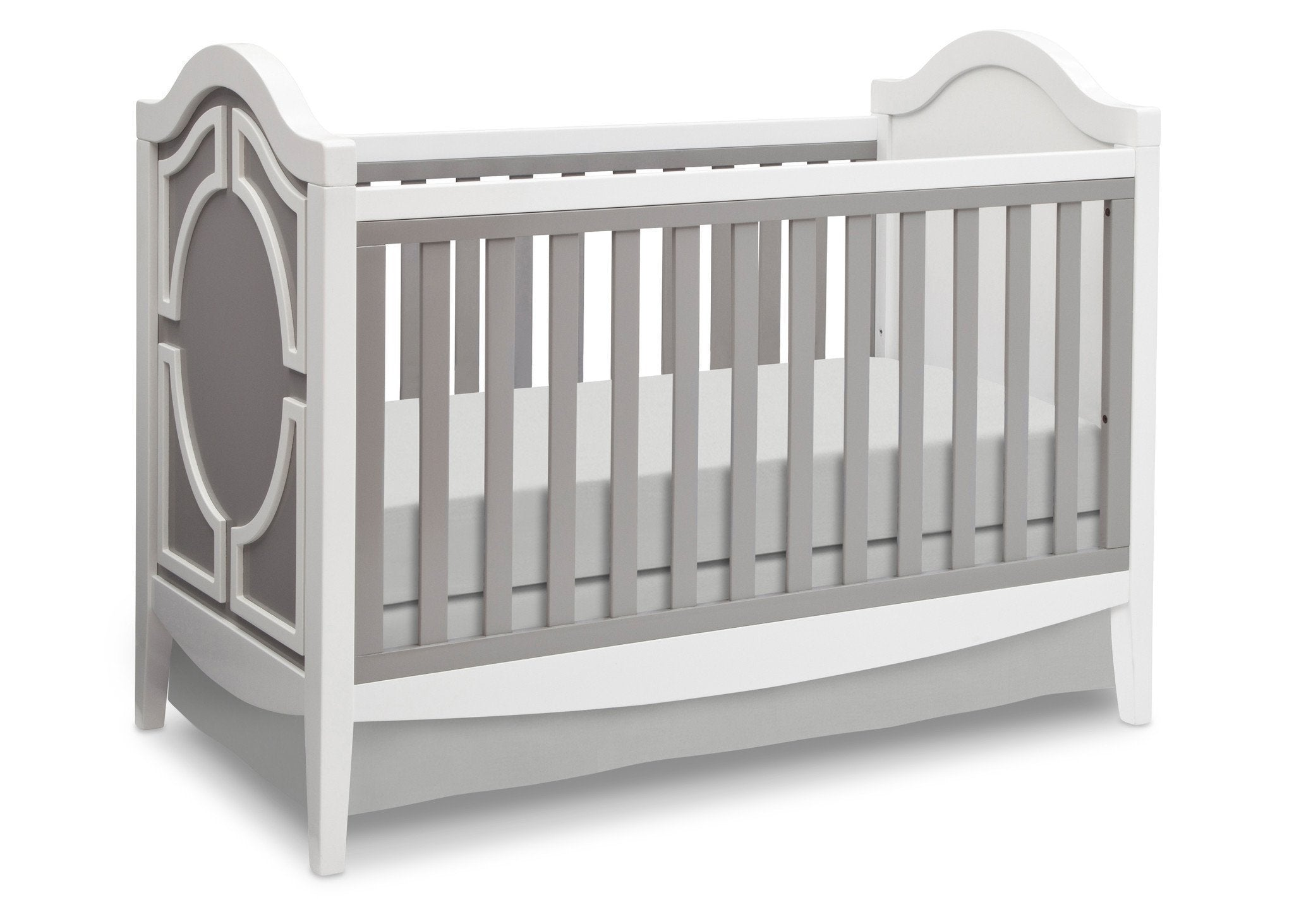 Simmons Kids Antique White/Grey (066) Hollywood 3-in-1 Crib, Crib Conversion a3a