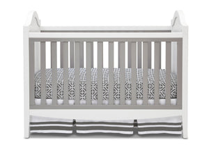 Simmons Kids Antique White/Grey (066) Hollywood 3-in-1 Crib, Crib Conversion Front View a2a