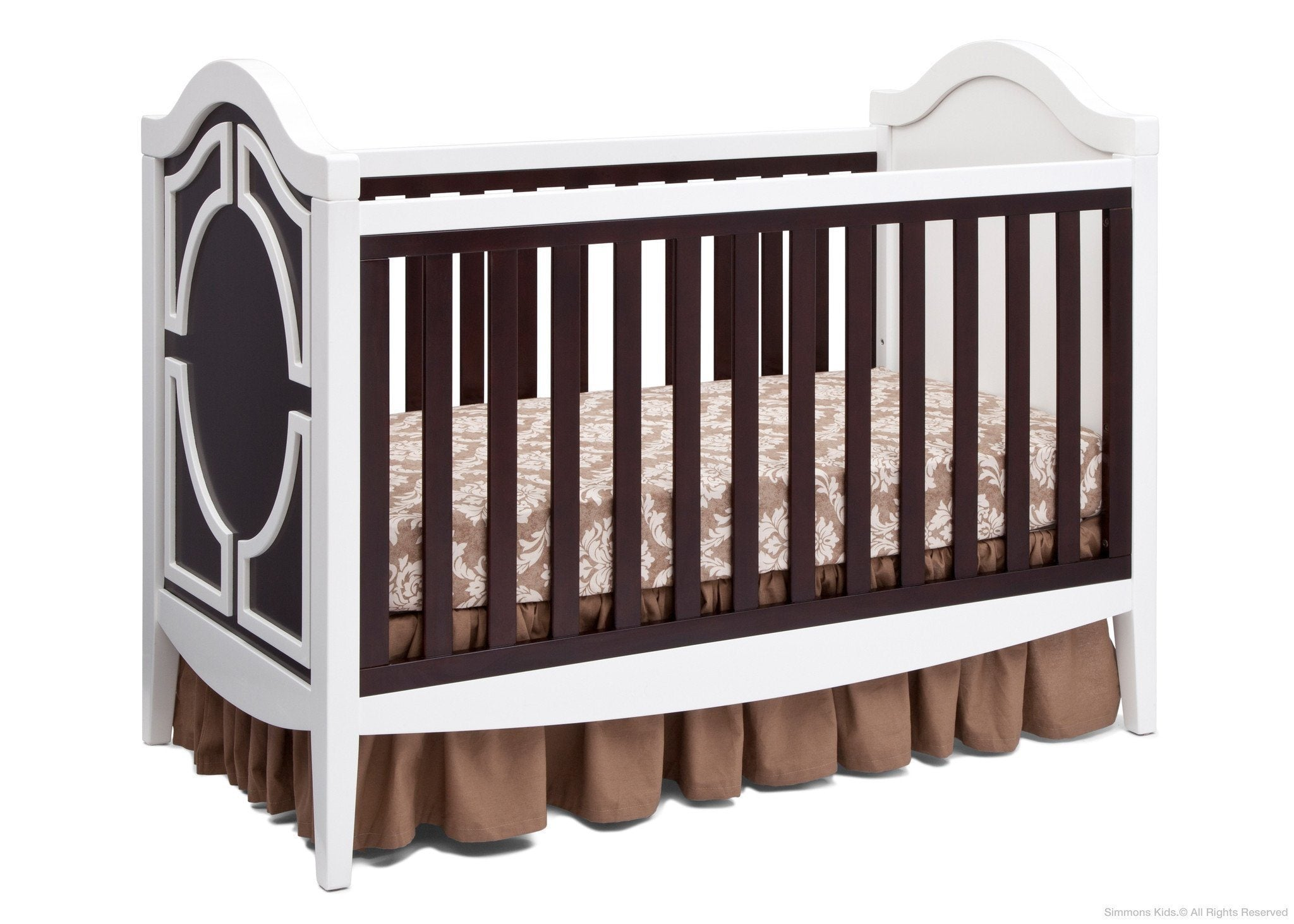 Simmons Kids White/Dark Chocolate (141) Hollywood 3-in-1 Crib, Crib Conversion b3b