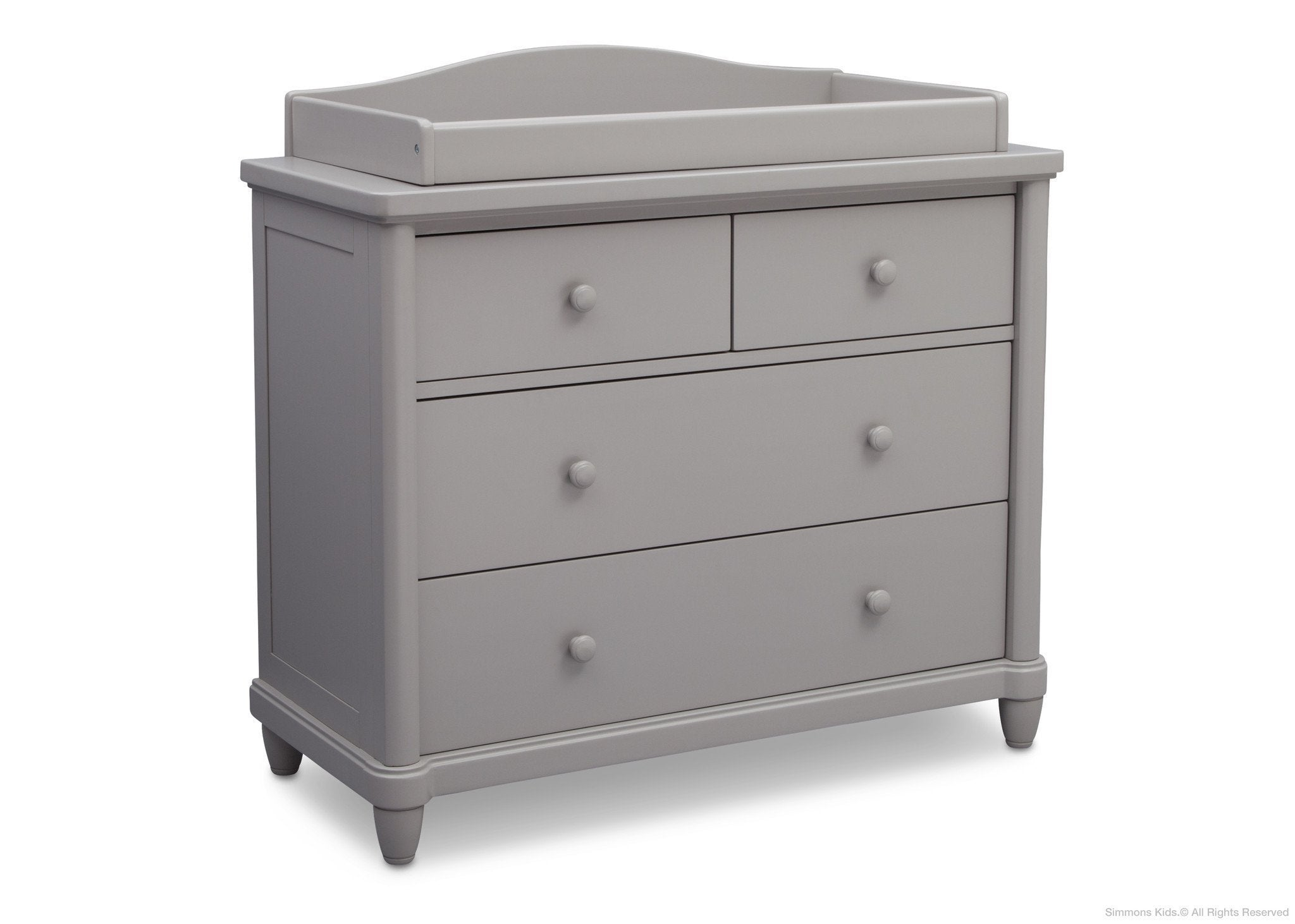 Simmons Kids Grey (026) Belmont 4 Drawer Dresser, Side View a1a