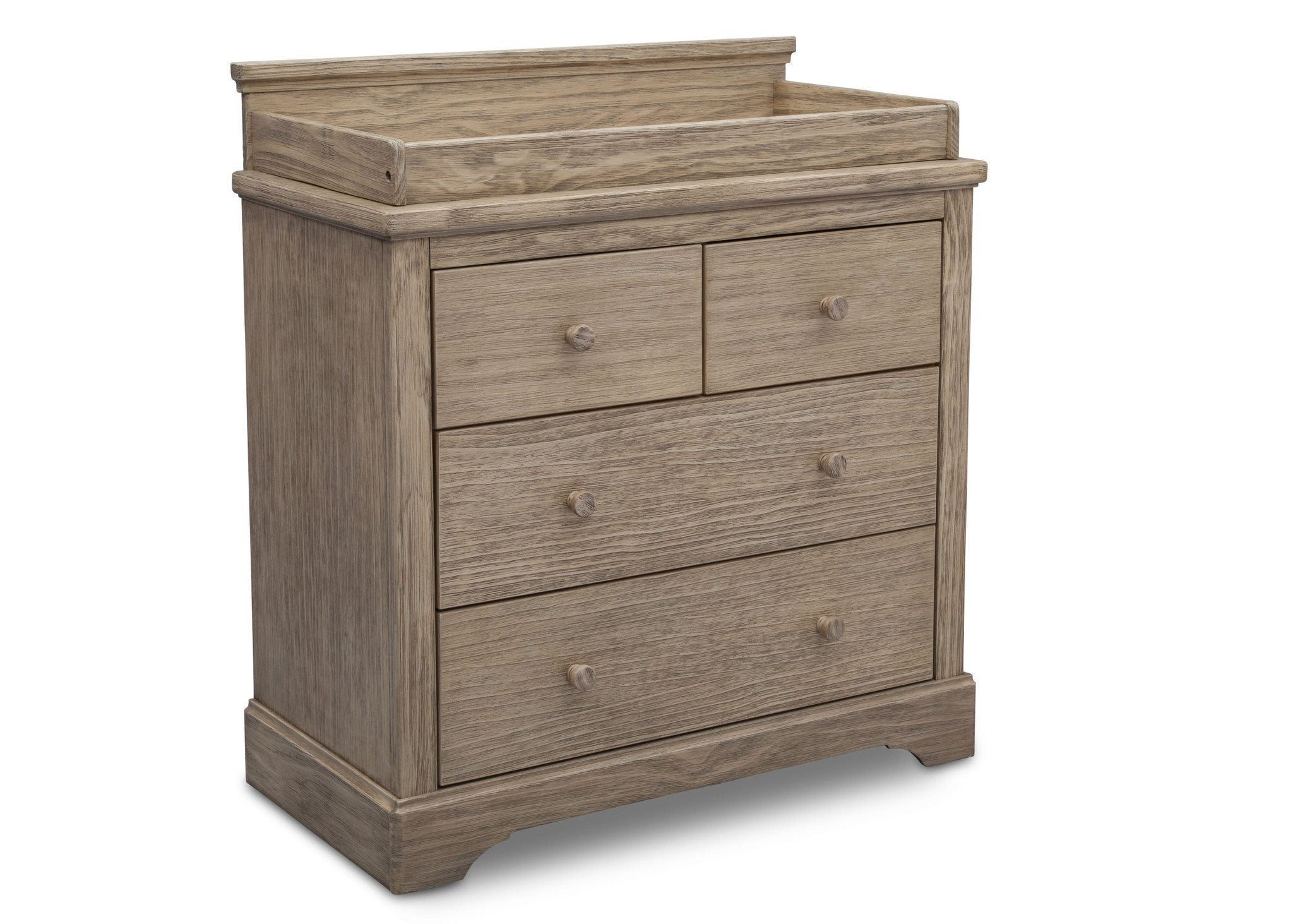 Simmons Kids Rustic Driftwood (112) Paloma 4 Drawer Dresser, Side View b1b