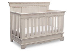 Simmons Kids Antique White (122) Tivoli Crib 'N' More, Angled View, b3b